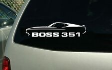 1971 Ford Mustang Boss 351 Muscle Car Vinyl Cut Sticker Decal FREE SHIPPING