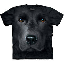 Black Lab Face Dog T-Shirt by The Mountain Big Labrador Retriever Head S-3XL NEW