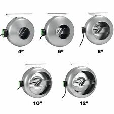 "HydroLight 4"" 6"" 8"" 10"" 12"" INLINE FAN HYDROPONIC GROW LIGHT / FILTER & DUCT FAN"