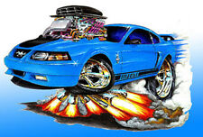 2003-04 Ford Mustang Mach 1 Muscle Car Art Print NEW