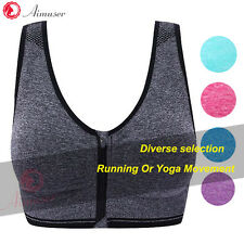 New Seamless Racerback Strappy Sport Bra Yoga Fitness Padded Stretch Workout Top