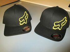 Fox Racing Flex 45 Flex fit hat cap Black Yellow 58379-019 in stock