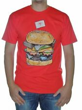 Rook The King Burger T-shirt Men S-M-L Red BNWT Cotton Skate Surf