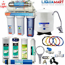 6 Stage 100 GPD Reverse Osmosis Ultraviolet Water Filter Purifier RO UV USA Made