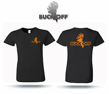 Buck Off women's short sleeve logo t shirt hunting antlers archery compound bow