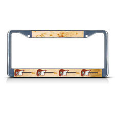ELECTRIC GUITAR MUSICAL INSTRUMENT STYLE 2 Metal License Plate Frame Tag Border