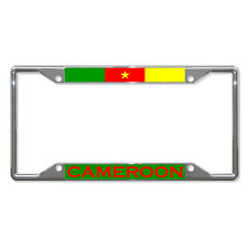 CAMEROON FLAG COUNTRY Metal License Plate Frame Tag Holder Four Holes