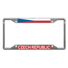 CZECH REPUBLIC FLAG COUNTRY Metal License Plate Frame Tag Holder Four Holes