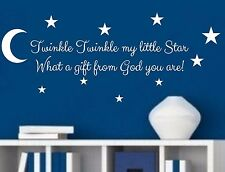 Twinkle Twinkle My Little Star Vinyl Wall Decal Sticker Nursery decor Kids Room