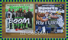 Sports Illustrated Seattle Seahawks Cover New Clean No Labels Jan Feb 2015