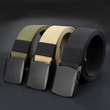 Fashion Sports Canvas Nylon Outdoor Men Military Belt Tactical Waistband Web