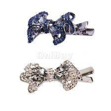 Shiny Bowknot Hair Pins Clips Clamp Headband Wedding Hair Jewelry Headpiece