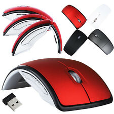 New Optical Foldable Folding Wireless Mouse Mice+USB 2.4G Snap-in Receiver