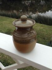 NWT Colombian Stoneware Pottery Jar with Lid Made in Colombia South America