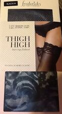 Frederick's Of Hollywood NIB Sexy Thigh High Lace Top Fishnet Black Or White