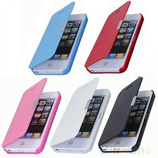 Magnetic Flip Leather Hard Skin Pouch Wallet Case Cover For Apple iPhone 5/5S/5G