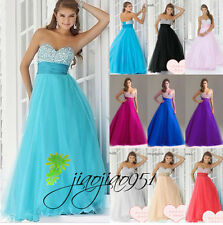Stock New Formal Party Gowns  Evening Cocktail Prom Bridesmaid Dresses Size 6-20