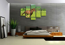 Large Wall Art HD Print On Canvas Running Horse Picture Contemporary Home Decor
