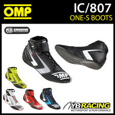 NEW! IC/807 2017 OMP ONE-S RACING BOOTS - LIGHTWEIGHT ULTRA SOFT LEATHER SHOES