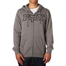 FOX RACING BOYS YOUTH LEGACY FOX HEAD ZIP UP HOODY HEATHER GRAPHITE SWEATSHIRT