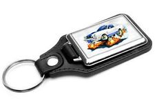 1976-77 Ford Mustang Cobra Car-toon Key Chain Ring Fob NEW