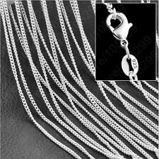 "Wholesale Lots 5pcs 925 Silver Plated 1.4mm Rolo Curb Necklace Chain 16-30"" MF"