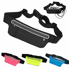 Unisex Waist Belt Bum Bag Jogger Sports Travel Pouch Keys Mobile Money Wallet