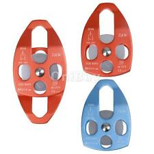 Rescue Climbing Aerial Work Side Plate Double Pulley Downhill Survival Equipment