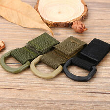 Outdoor EDC Tactical Carabiner D-Ring Molle Webbing Backpack Buckle Hook Clip