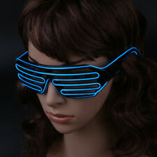 LED Luminescent Window Blinds Glasses EL Glowing Flashing Glasses Party Articles