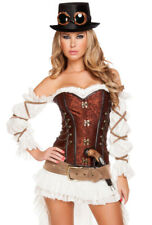 Sexy steampunk Roma maiden top hat corset costume