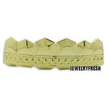 Gold Finish Textured Style Universal Top Teeth Grillz