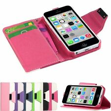 Luxury PU Leather Magnetic Wallet Flip Card Slot Case Cover For Apple iPhone 5C