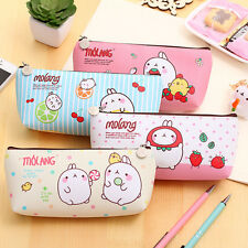 Cute PU Leather Pencil Case Cosmetic Makeup Coin Pouch Zipper Bag Purse Women g6