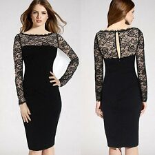 Sexy Women Summer Casual Off Shoulder Green Evening Party Lace Bodycon Dress