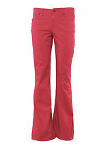Vintage 80's Womens Flare Jeans Ladies Boot Cut Denim Low Waisted Trouser Red