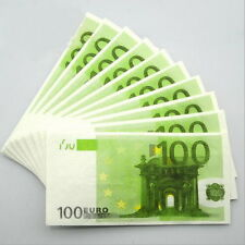 100 PCS €100 Euros Note Novelty Money 3 Ply EU Printed Tissues / Napkins XW