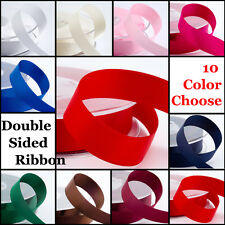 "10mm (3/8"") x 25 Yards Double Sided Satin Ribbon Various Colours Best Quality"