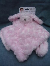 NEW BLANKETS AND BEYOND PINK BUNNY RABBIT BABY COMFORTER BLANKET BLANKIE