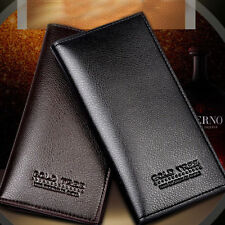 Luxury Bussiness Men Faux Leather ID Card Holder Checkbook Purse Wallet 3 Colors