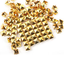 DIY New Square Pyramid Rivet Metal Studs Spots Spikes Punk Leathercraft 100pcs