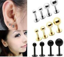 Punk Women Barbell Ear Cartilage Helix Tragus Stud Earring Bar Piercing au