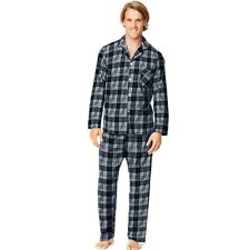 Hanes Men's Woven Pajamas - Button Down Shirt - Sleepwear- 5 COLORS - Size S-5XL