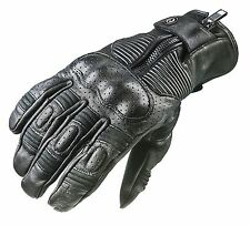 Garibaldi Smoke Vintage Cafe Racer Style Motorcycle Gloves