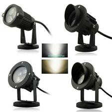 LED Landscape Garden Wall Yard Path Pond Flood Spot Light Outdoor IP65 With Base