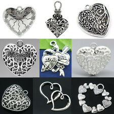 Fashion DIY Heart Theme Charm Pendants Coeur Breloque Jewelry Making Findings