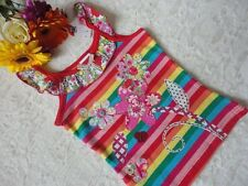 Girls Short Sleeved Embroidered Top, Cotton, Sizes 2 - 6