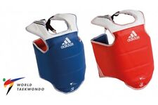 Adidas WTF TKD Body Protector Taekwondo Body Guard Chest Protector WTF Red Blue