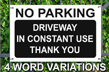 NO PARKING SIGN 4mm Correx SIGN Road Gate Sign A4 Weatherproof Corugated Plastic