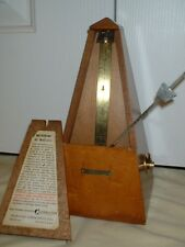 Vintage Metronome de Maelzel by Seth Thomas Clocks Restored, Mvmt Fully Serviced